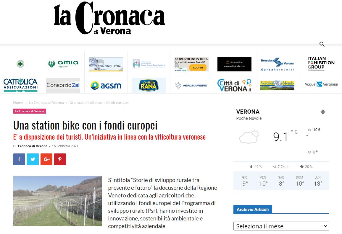 Storie di sviluppo rurale su Cronaca di Verona