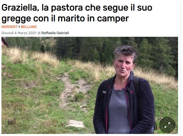 Sul Gazzettino la storia di Graziella Froner