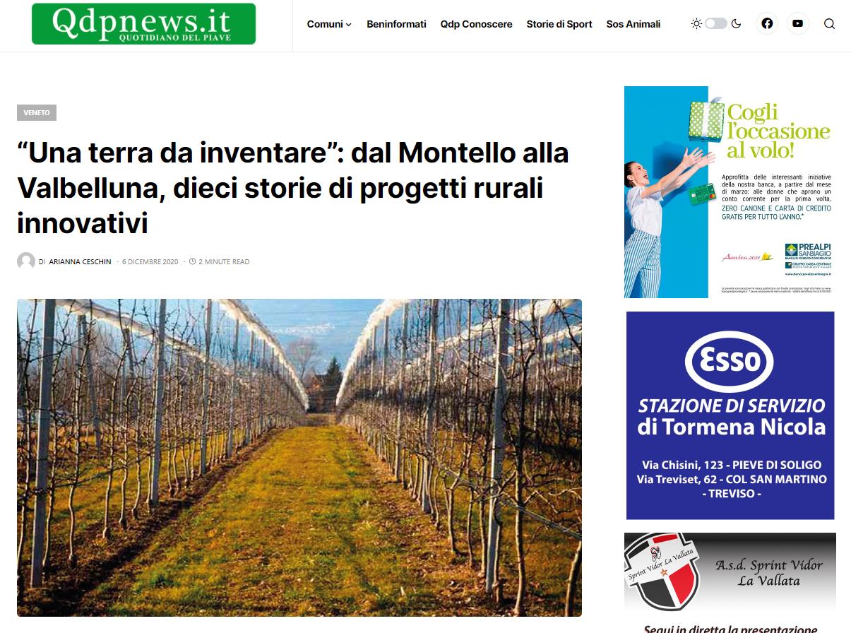 """Una terra da inventare"" su Qdp news"